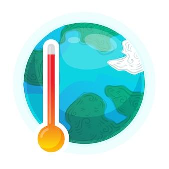 Globalne ocieplenie. pogoda na ziemi, globalne ogrzewanie środowiska, ilustracja problemu ekologii