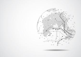 Globalne połączenie biznesowe w sieci