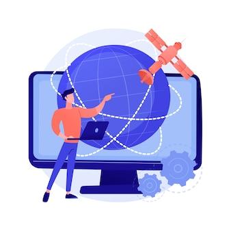 Globalne połączenie internetowe streszczenie ilustracja koncepcja