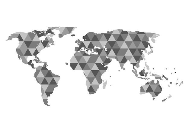 Globalne połączenie sieciowe. mapa świata punkt i koncepcja skład linii globalnego biznesu. ilustracja wektorowa