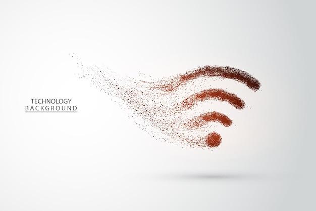 Globalne połączenie sieciowe. projekt graficzny technologii streszczenie tło. łączenie kropek. połączenie internetowe.ilustracja wektorowa