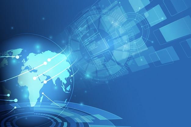 Globalne Połączenie Sieciowe. Punkt Na Mapie świata I Koncepcja Składu Linii Globalnego Biznesu. Premium Wektorów