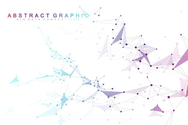 Globalne połączenie sieciowe. tło wizualizacji sieci i dużych zbiorów danych. futurystyczny globalny biznes. ilustracja wektorowa.