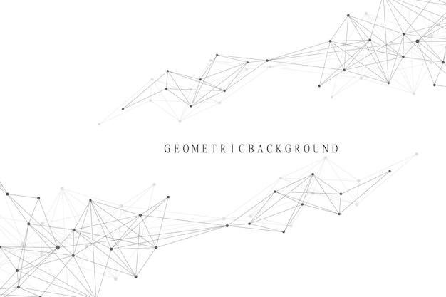 Globalne połączenie sieciowe. tło wizualizacji sieci i dużych zbiorów danych. globalny biznes. ilustracja wektorowa.