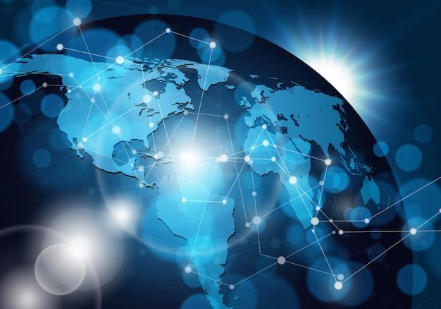 Globalne Połączenie Sieciowe Premium Wektorów
