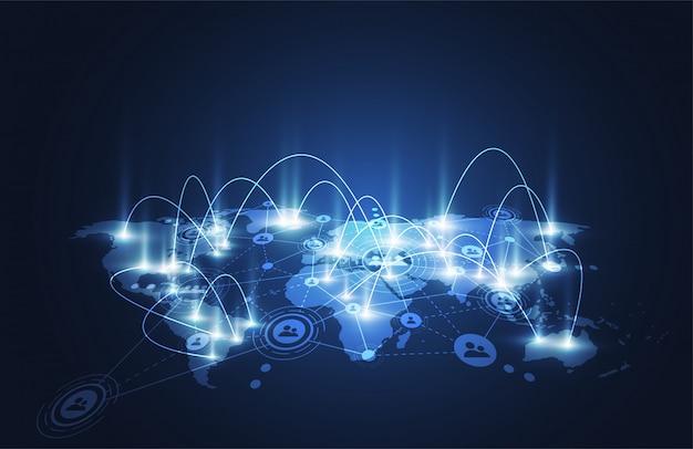 Globalne połączenie sieciowe.