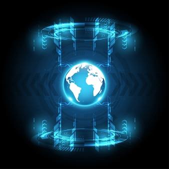 Globalny abstrakcjonistyczny technologii tła komunikaci pojęcie