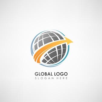 Globalny szablon logo koncepcja