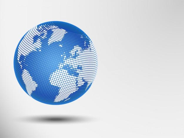Globe streszczenie kropki. wektorowa ilustracja mapa świata. eps 10