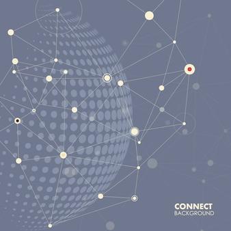 Globus świata, połączyć koncepcję