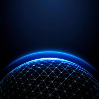 Globus świecąca atmosfera międzynarodowy biznes ciemne tło
