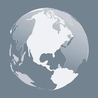 Globus w kolorze białym in