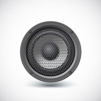 Głośnik audio na białym tle. ilustracja wektorowa, eps10