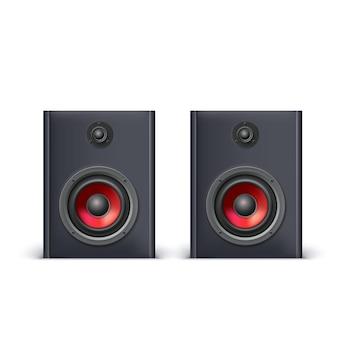 Głośniki na białym tle, ilustracji wektorowych dla ciebie
