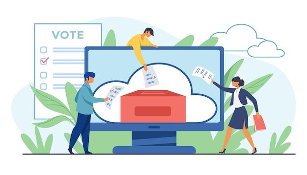 Głosowanie online lub elektroniczne