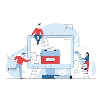 Głosowanie przez internet lub w trybie elektronicznym