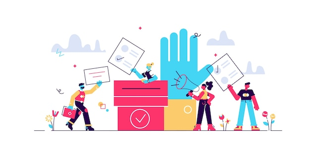 Głosuj ilustracja