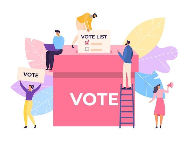 Głosuj papierową kartą do głosowania w wyborach demokratycznych