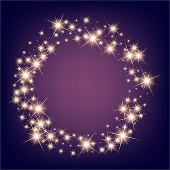 Glow light effect gwiazdki wybucha iskierkami.
