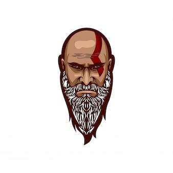 Głowa baber z blizną