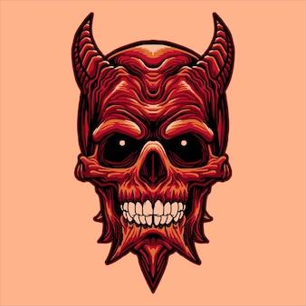 Głowa czaszki diabła
