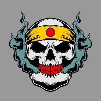 Głowa czaszki dymu