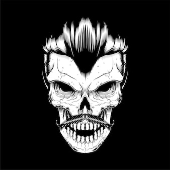 Głowa czaszki, na białym tle