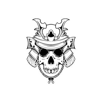 Głowa czaszki warior ilustracja