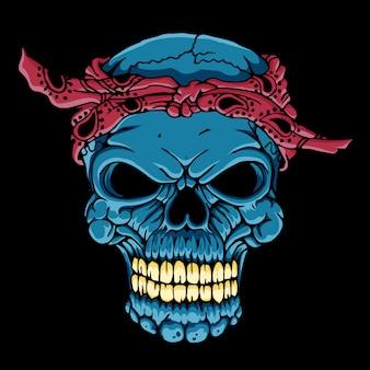Głowa czaszki z chustką