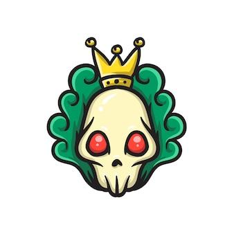 Głowa czaszki z królewską koroną
