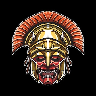 Głowa demon gladiator ilustracja