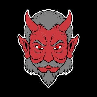 Głowa demona wujka dla motocyklisty