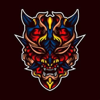 Głowa drapieżnego potwora