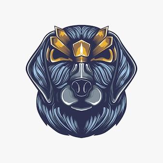 Głowa grafika ilustracja psa