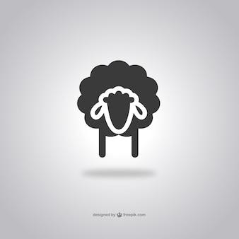 Głowa ikona owiec