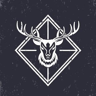 Głowa jelenia, elementy godła