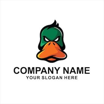 Głowa kaczki wektor logo