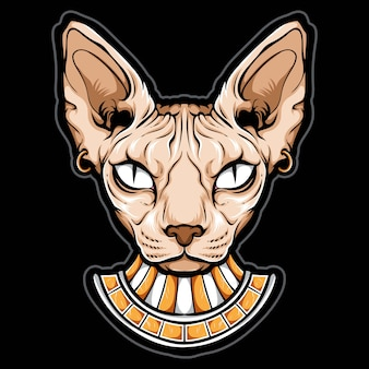 Głowa kota egipskiego sfinksa