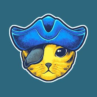 Głowa kota pirata