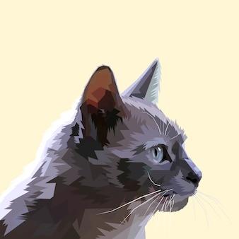 Głowa kota z boku