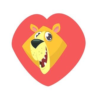Głowa lwa kreskówek
