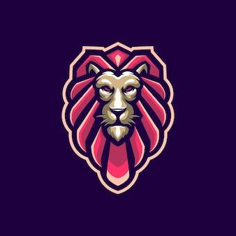 Głowa lwa z wektorem na logo