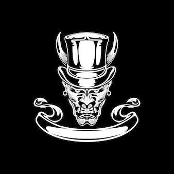 Głowa Magika Premium Wektorów
