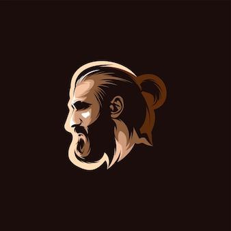 Głowa mand witth broda ilustracja