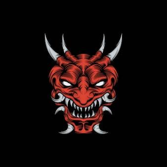 Głowa maskotka onimask ilustracja