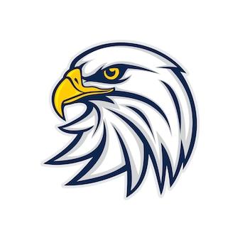 Głowa orła wektor logo