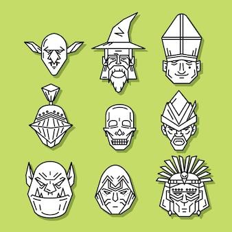Głowa postaci fantasy