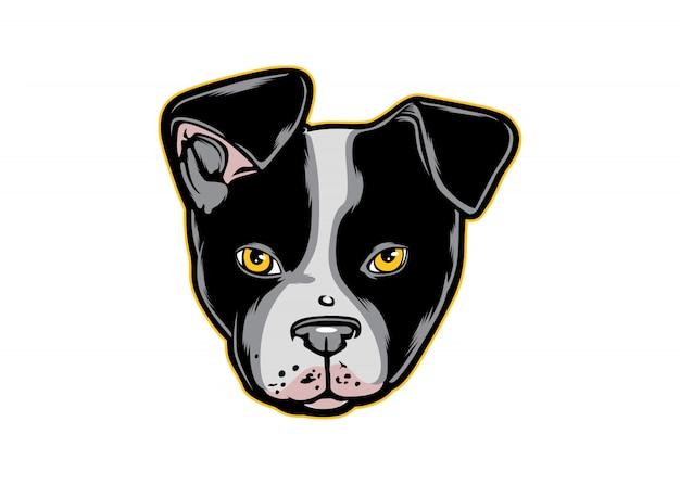 Głowa psa boston terrier
