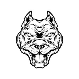 Głowa psa rocznika ilustracja