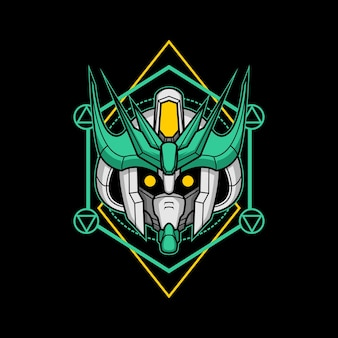 Głowa robota-zabójcy o świętej geometrii 16
